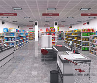 store shopping building 3D
