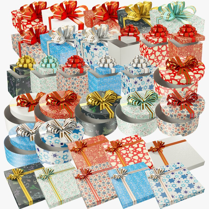 3D set gifts christmas present