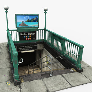 subway entrance model