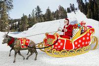 santa claus rides reindeer model
