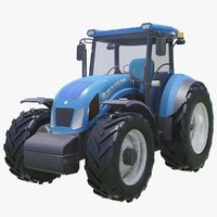 3D model realistic tractor new holland
