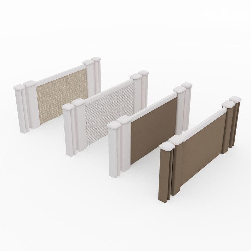 modular fence architecture model