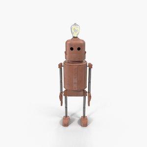 3D enamored robot model