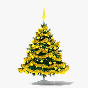 christmas tree gold model
