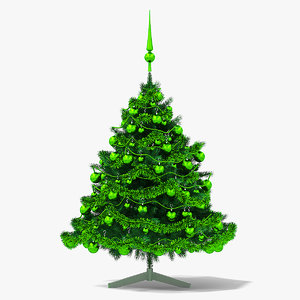 3D christmas tree green