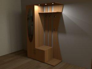 hallway closet 3D model