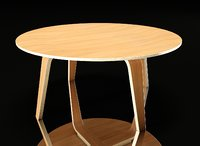 3D coffee table plywood model