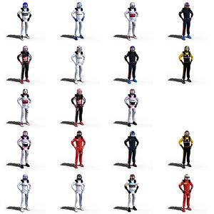 drivers formula 1 3D model