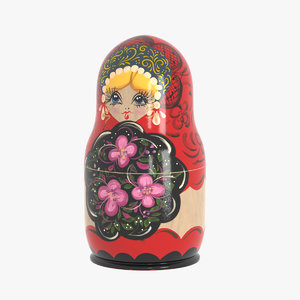 matryoshka doll 3D model