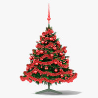 christmas tree red 3D