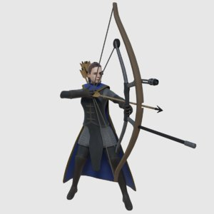 3D ready fantasy steampunk archer