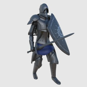 ready fantasy steampunk swordsman 3D model