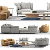 moroso moooi sofa set 3D model