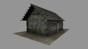 russian old log house 3D model