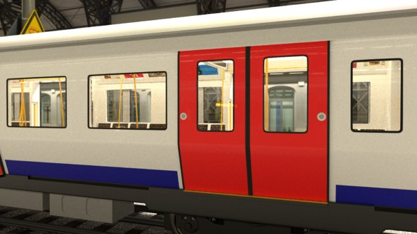 s7 stock london underground 3D model