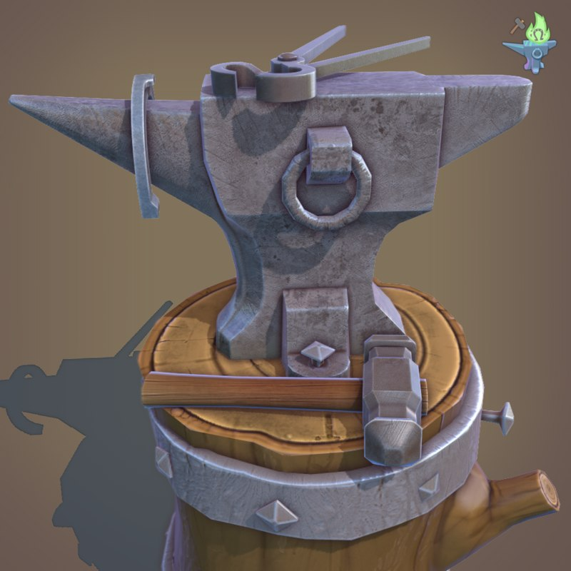 3D anvil blacksmith