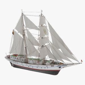 greif brigantine vessel wilhelm 3D