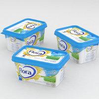 3D spread butter model