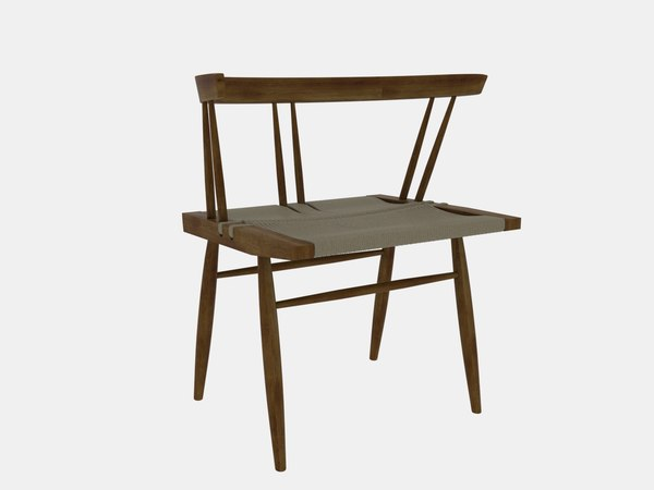 seagrass chair nakashima george 3D
