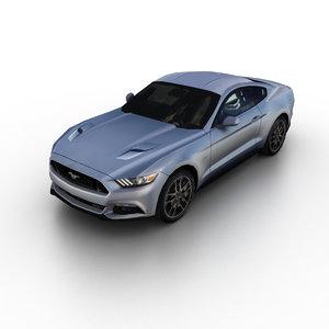 2015 mustang gt 3d model