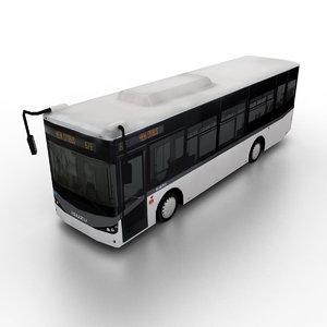 3d obj isuzu citibus city bus