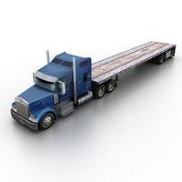 w900 flat bed loader 3d model