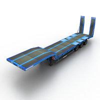 3d model loader semitrailer