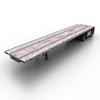 Semitrailer Flat Bed Loader