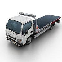3d model mitsubishi fuso canter tow truck