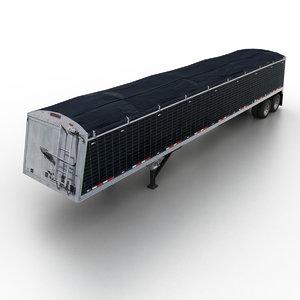 3d tented tipper semitrailer