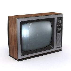 vintage television 3D