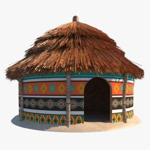 african hut 3D model