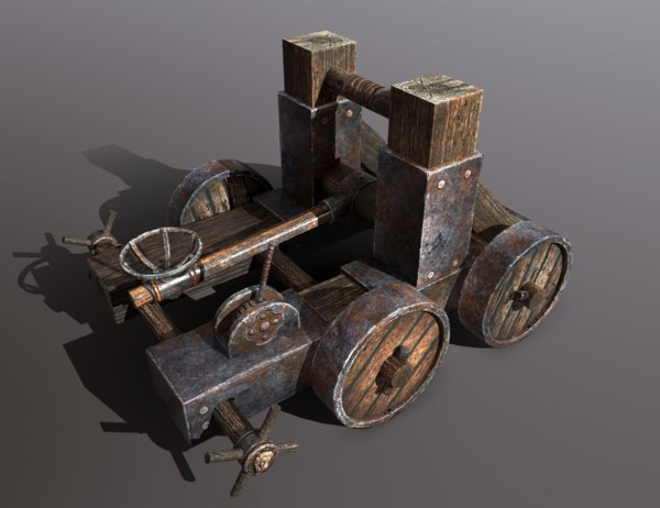catapult vehicle weapons 3D model