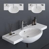 3D m2 washbasin 5236 5235 model