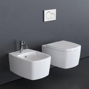 3D model wall-hung toilet 8971 bidet
