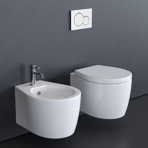 wall-hung toilet - smartb 3D model