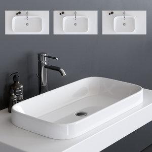 meg11 washbasin 5453 5452 3D model