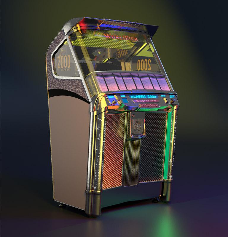 3D model wurlitzer 2000 classic