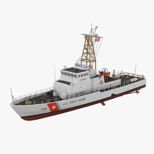 uscgc patrol boat 3D model
