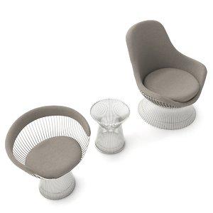3D knoll platner seating model