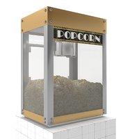 premiere popcorn machine - 3D model