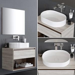 connect air washbasin 3D model