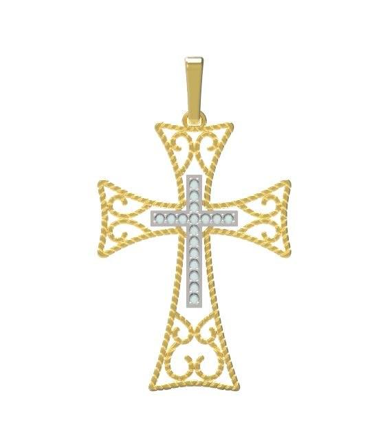 gold cross 3D model