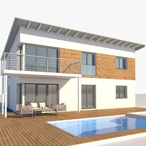contemporary house 3D