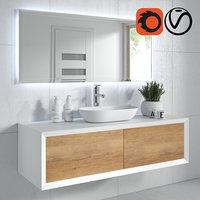 furniture mirror floor 3D