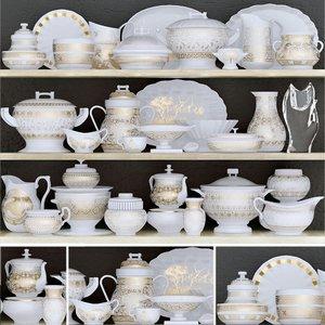 dishes vase porcelain 3D