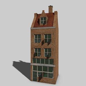 3D model dutch house