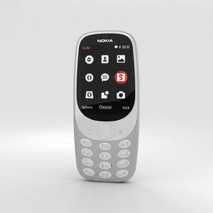 nokia 3310 2017 3D model