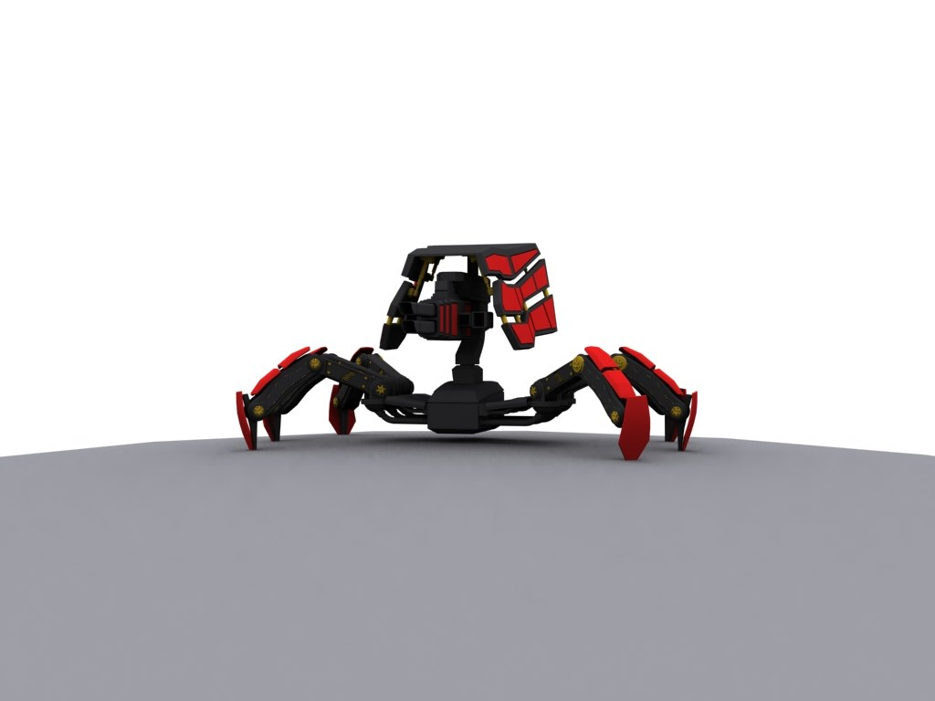 3D model concept spiderbot