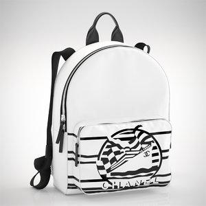 chanel s backpack 3D model